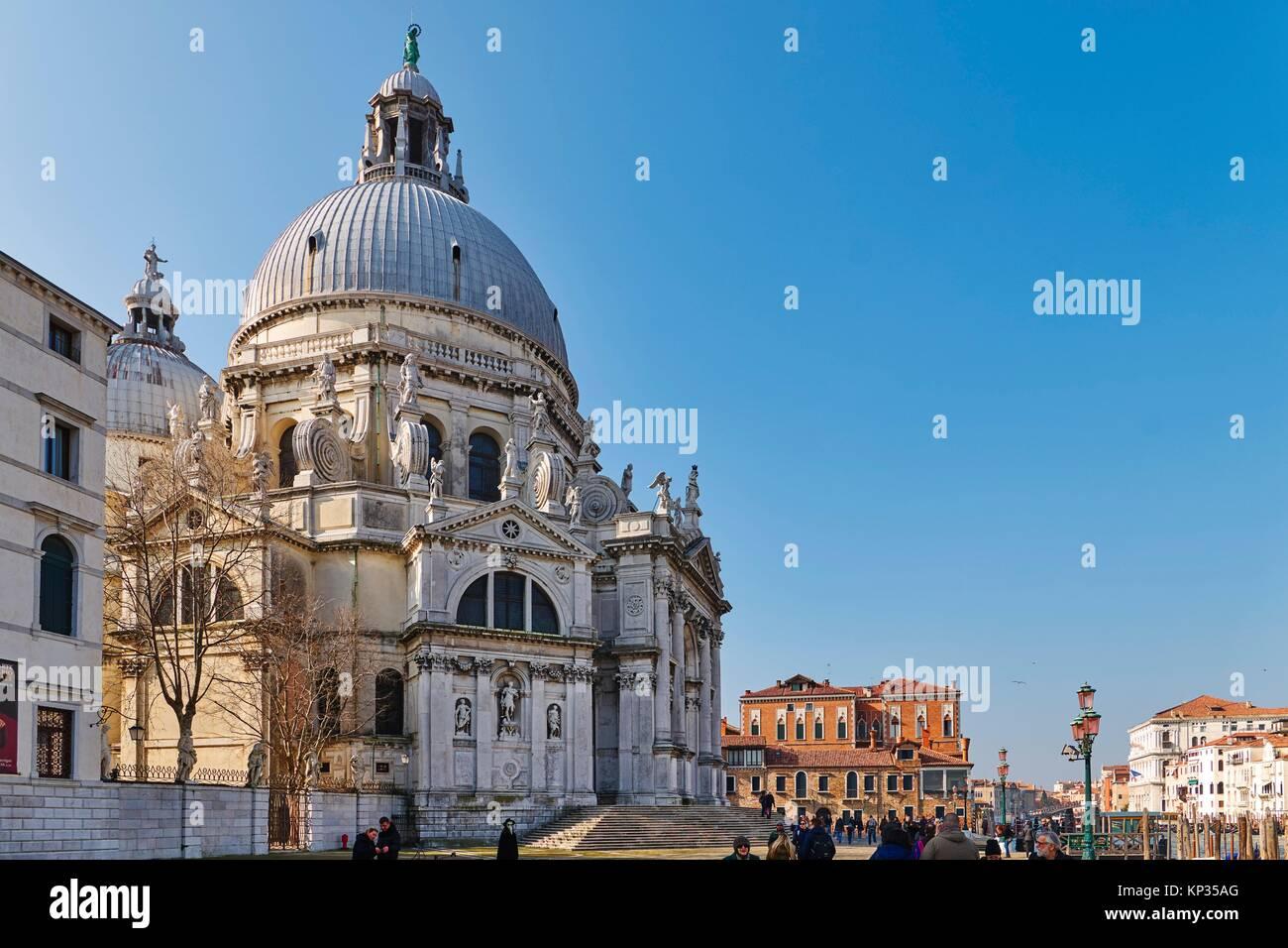 Santa Maria della Salute Church in Venice, Italy - Stock Image