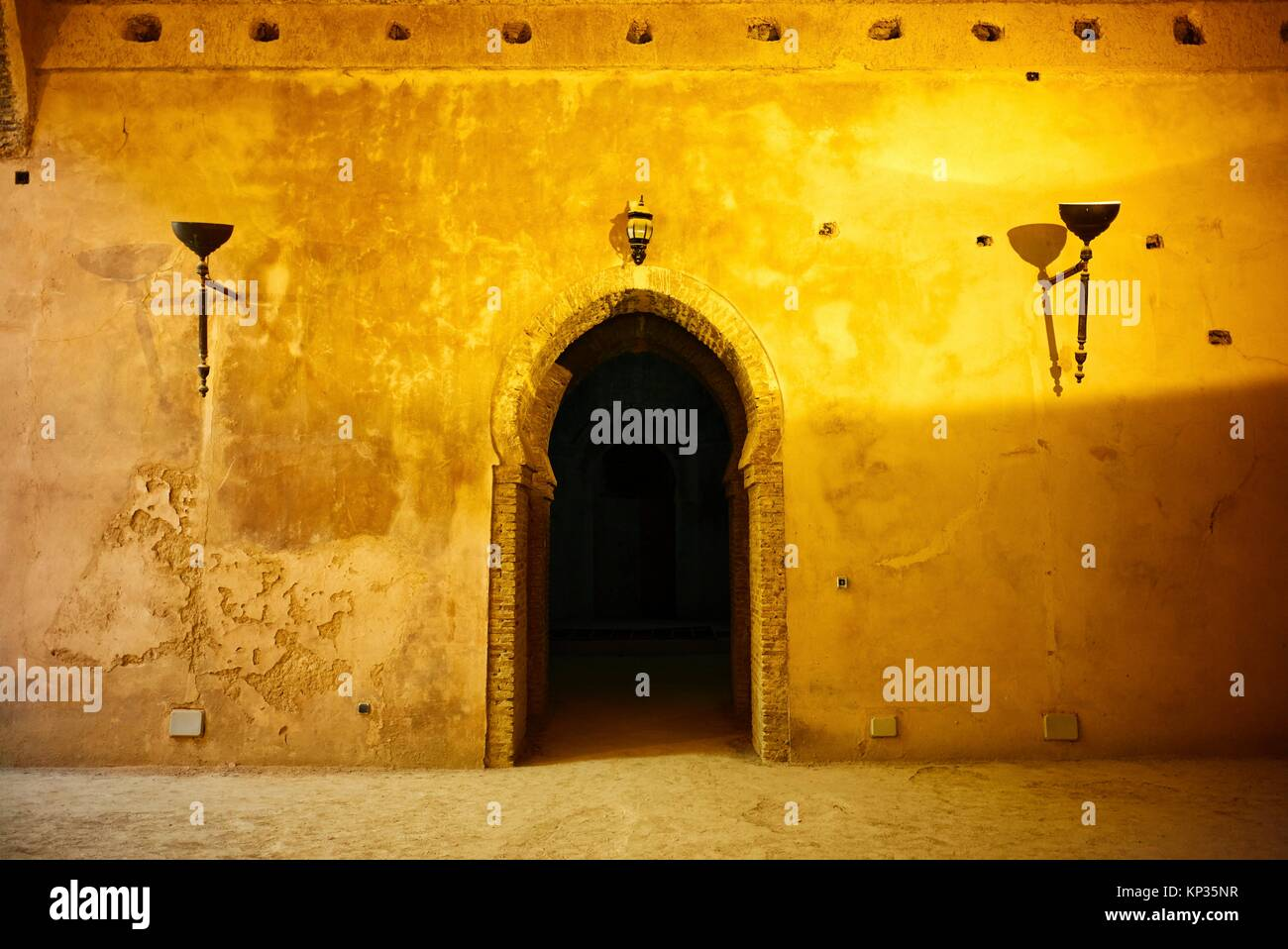 Moroccan granary and old stables in Meknes, Morocco - Stock Image