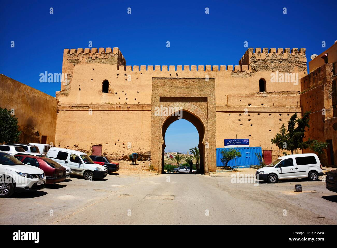 The gate to the Medina (old city) of Meknes, Morocco - Stock Image