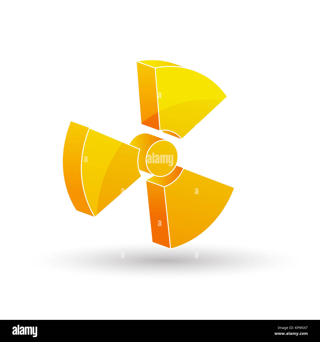 illustration of nuclear icon in white background - Stock Image