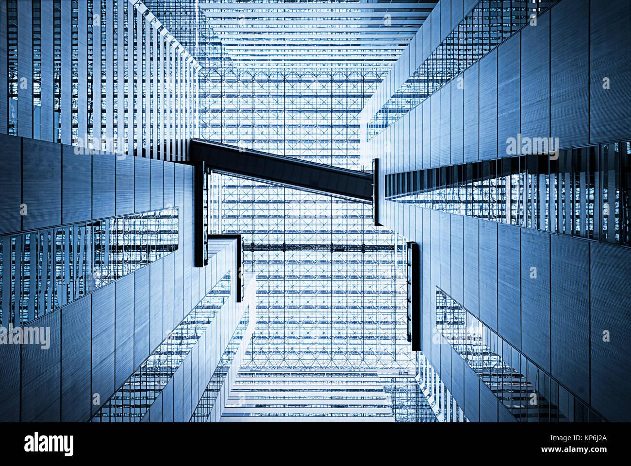 Abstract Architecture Atrium - Stock Image