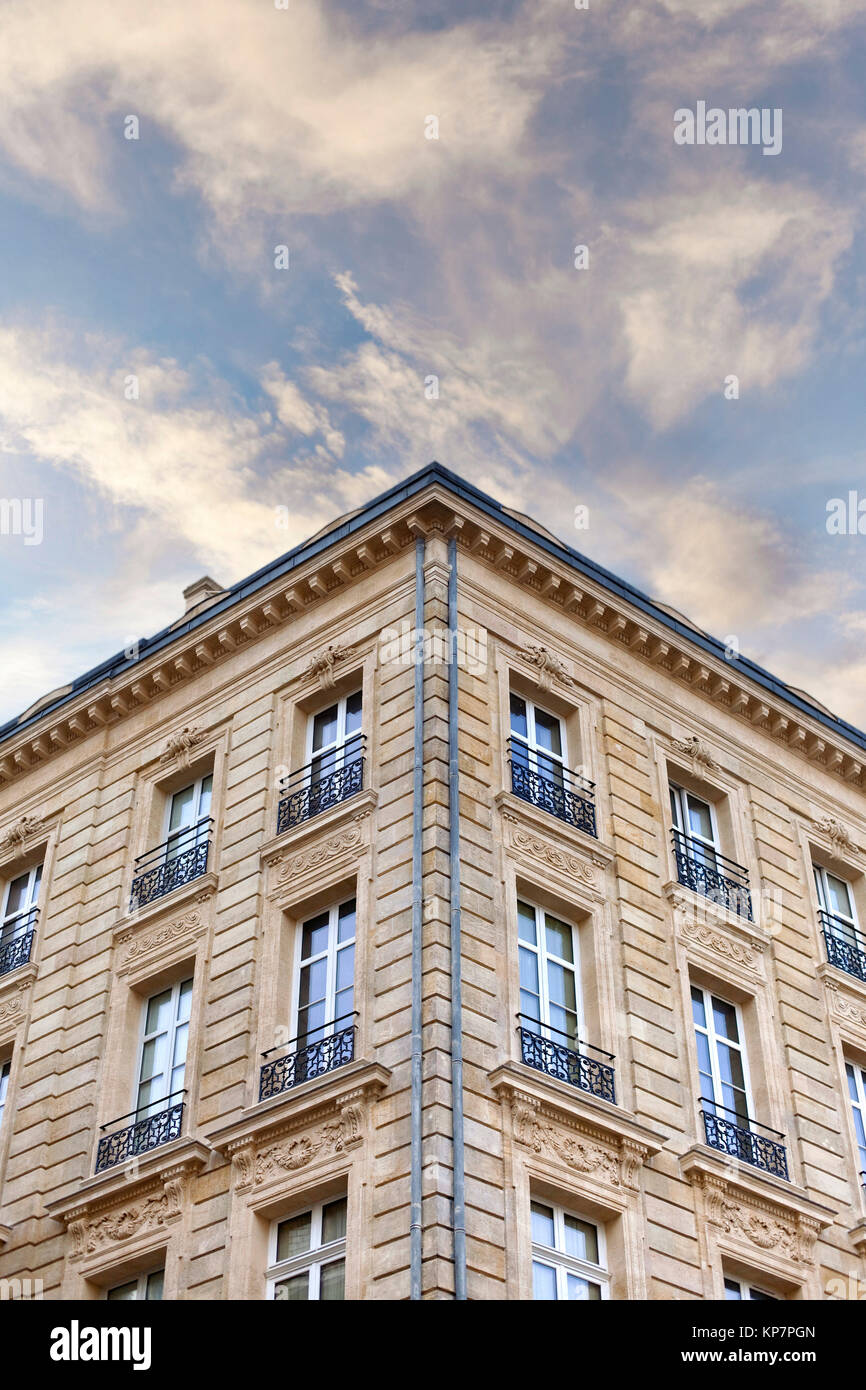 Classic French building - Stock Image