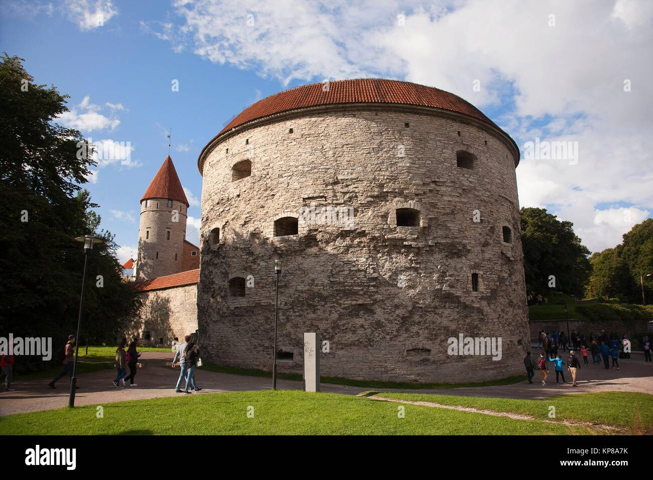 Fat Margaret Tower, a 16th century fortification, now housing the Estonian Maritime Museum, Tallinn, Estonia, Baltic - Stock Image