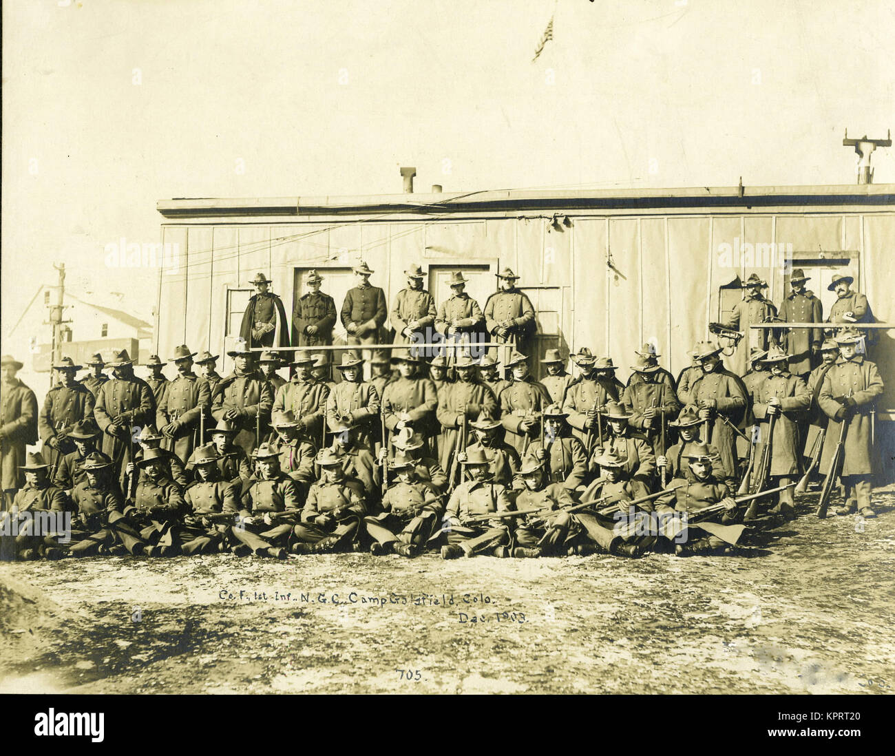 Federal Troops Brought In To Put Down Strikes In Goldfield, Company 'F' 1St Infantry National Guard Of Colorado - Stock Image