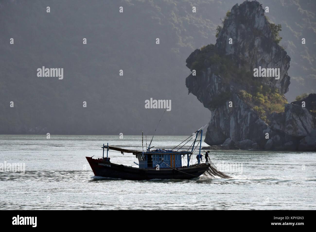 Ha Long bay, Vietnam, Asia - Stock Image