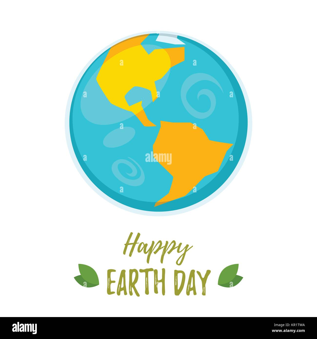 Earth Day greeting card - Stock Image