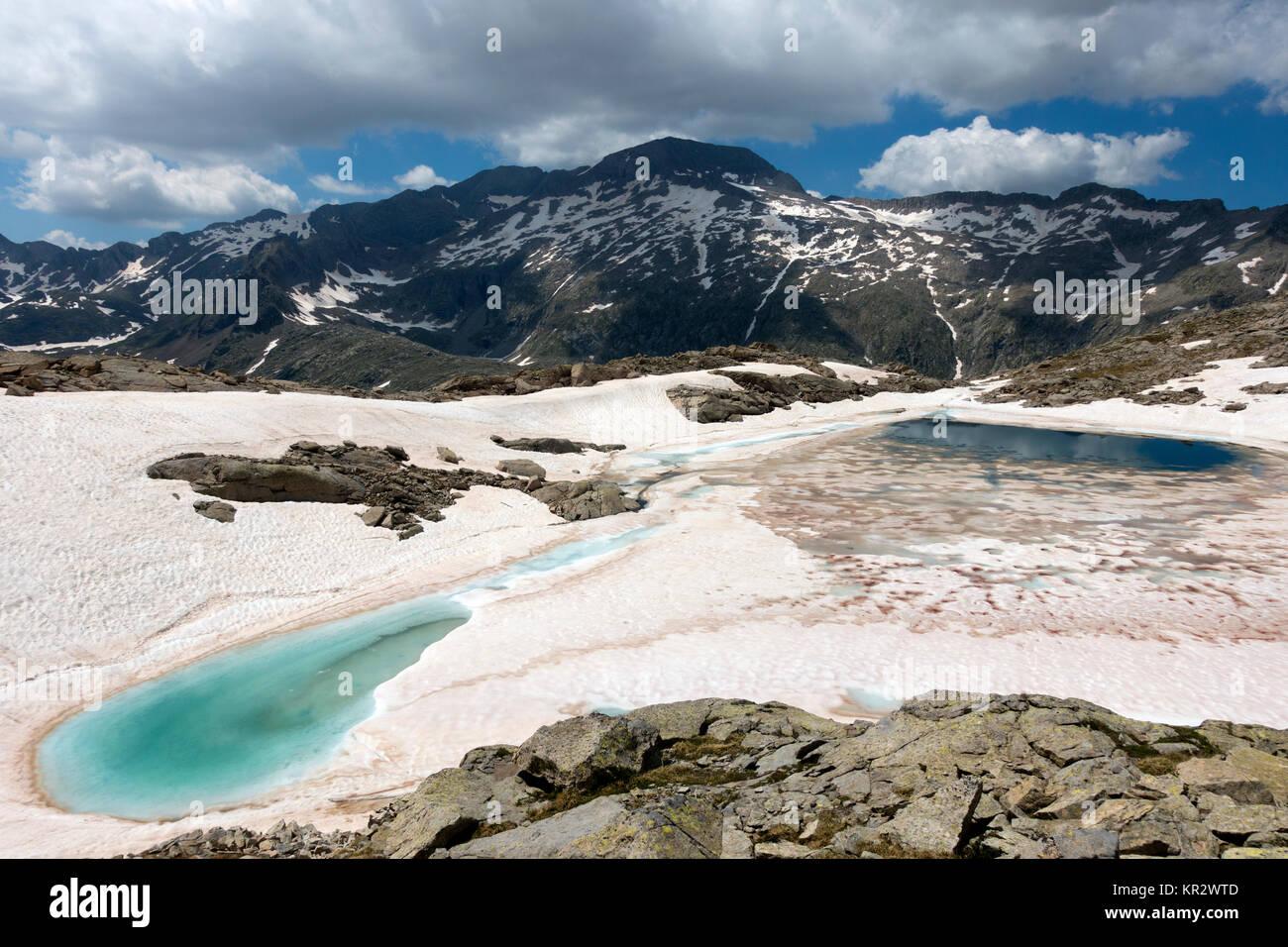 Posets-Maladeta Natural Park,Pyrenees.Spain - Stock Image