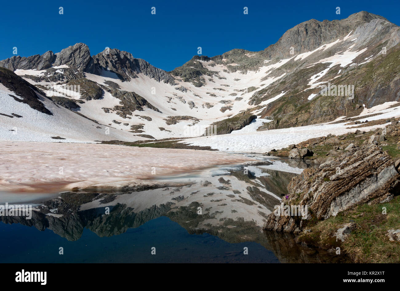 Posets-Maladeta Natural Park.Pyrenees.Huesca.Spain - Stock Image