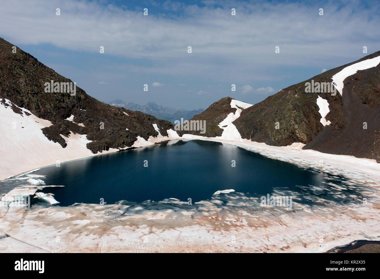 Ibón de Tebarray (Tebarray mountain lake).Piedrafita.Pyrenees.Aragón.Spain - Stock Image