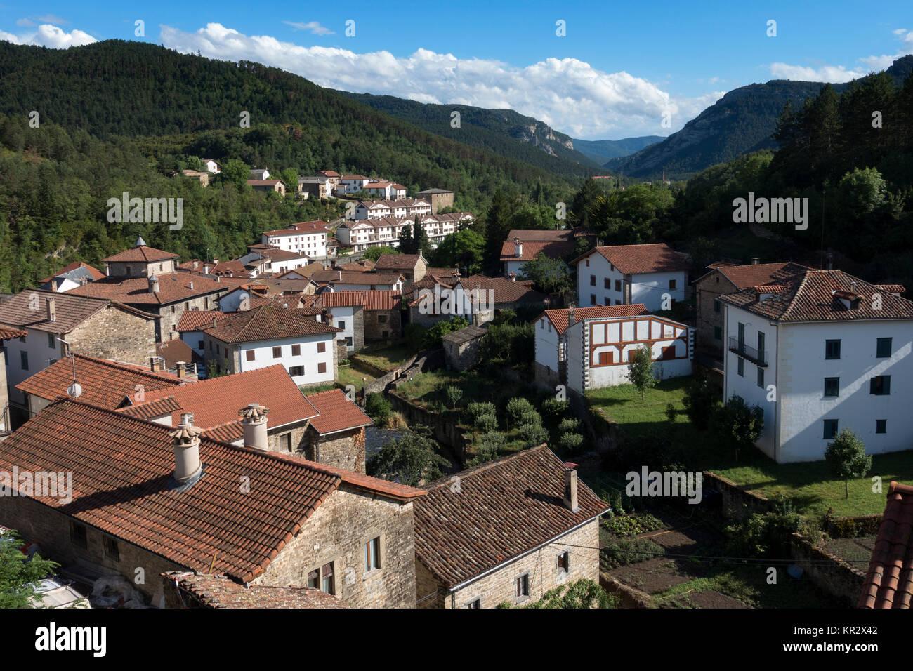Roncal village.Navarra.Spain - Stock Image