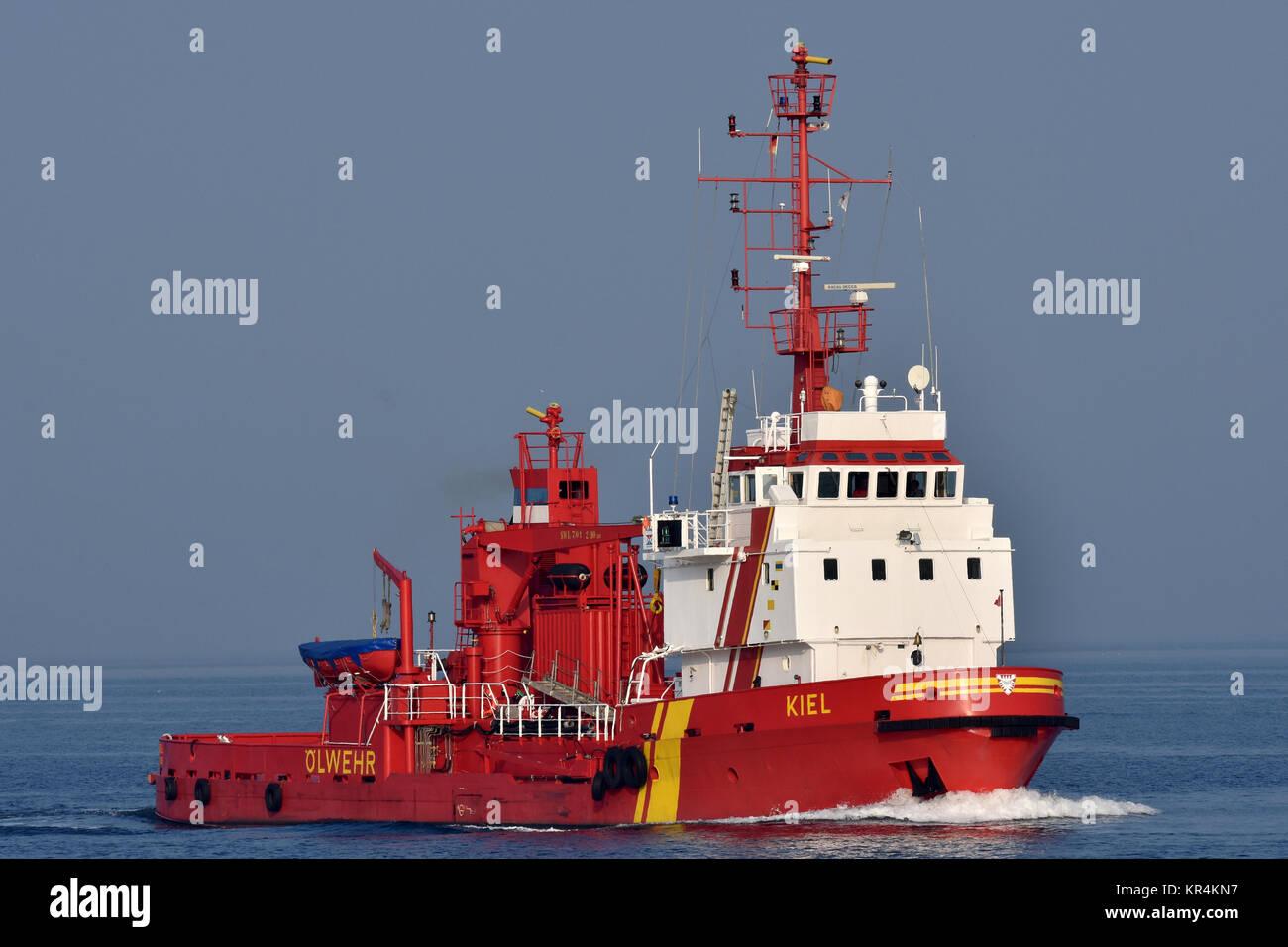 Pollution Control Vessel Kiel - Stock Image