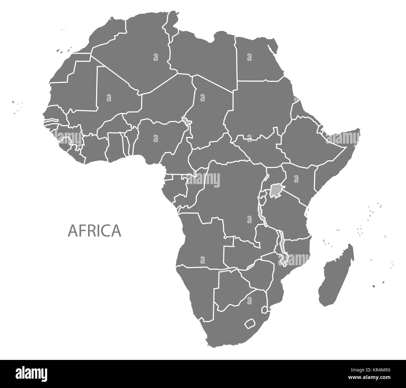 World map flat africa stock photos world map flat africa stock africa map with countries grey stock image gumiabroncs Choice Image