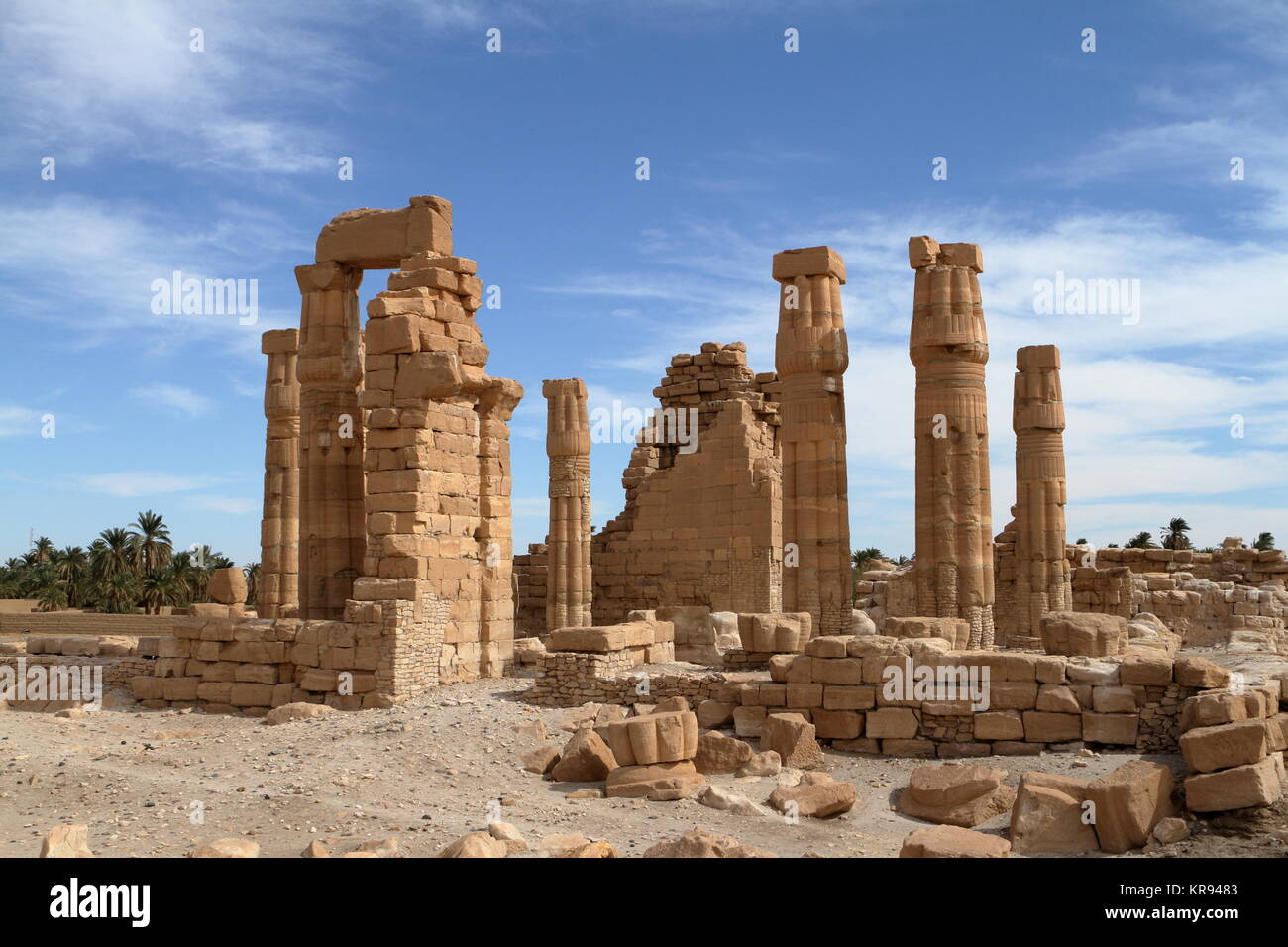 the temple ruins of soleb in sudan Stock Photo