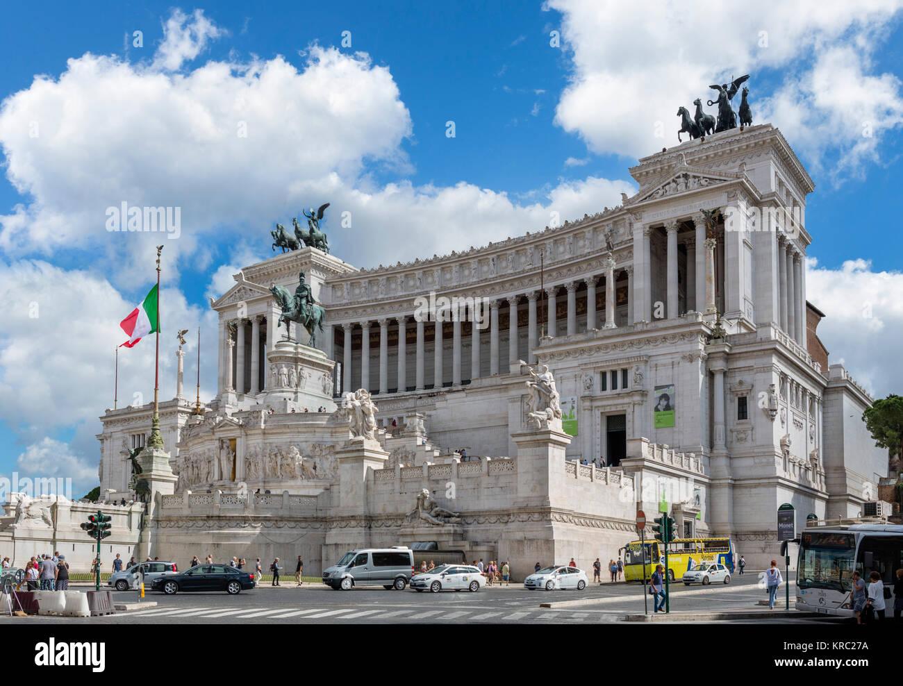 The Victor Emmanuel Monument ( Monumento Nazionale a Vittorio Emanuele II or Altare della Patria ), Rome, Italy - Stock Image
