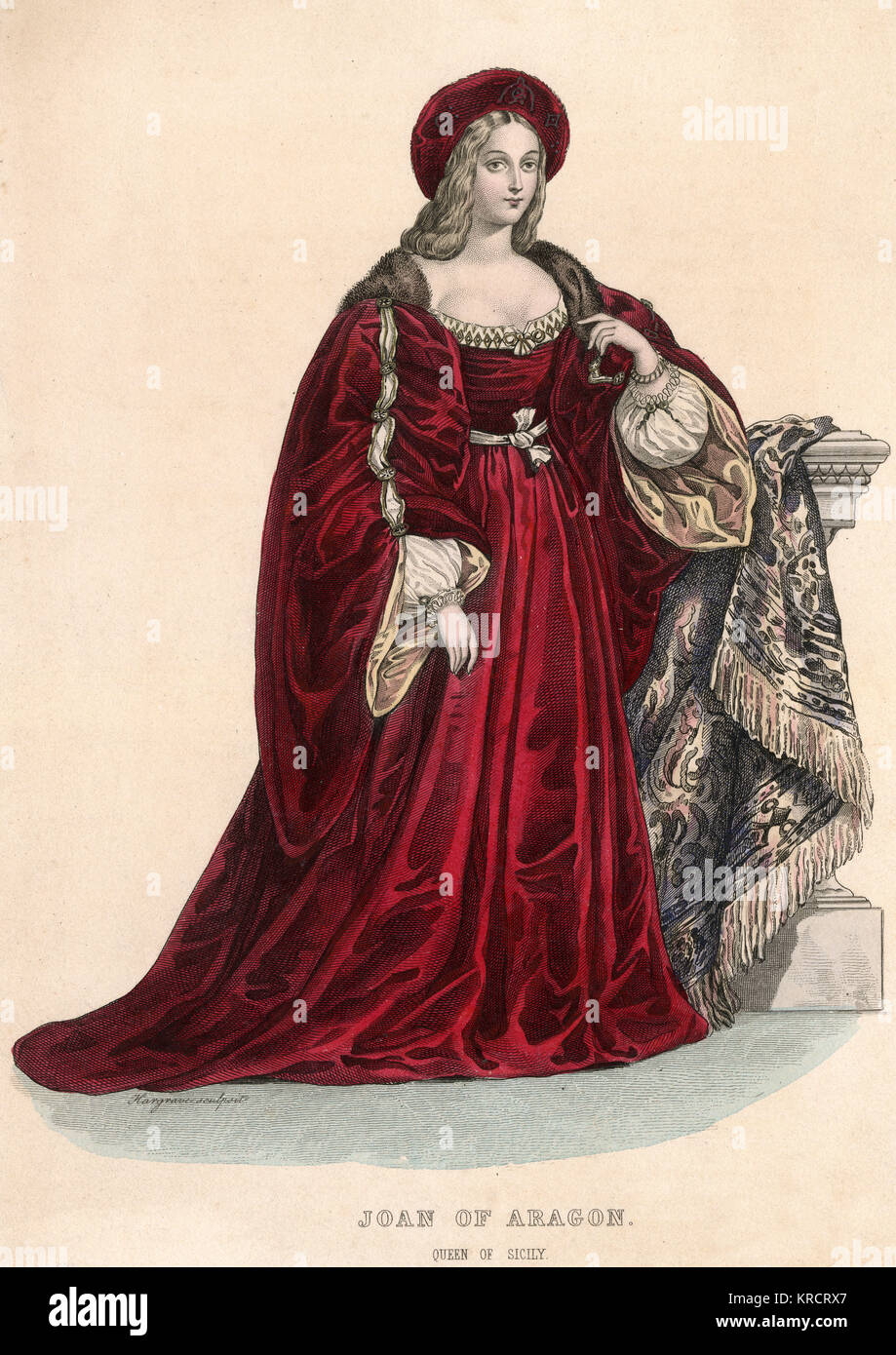 JOAN I QUEEN OF NAPLES Married many times, particpated in assassination of first husband. Put to death by Charles - Stock Image