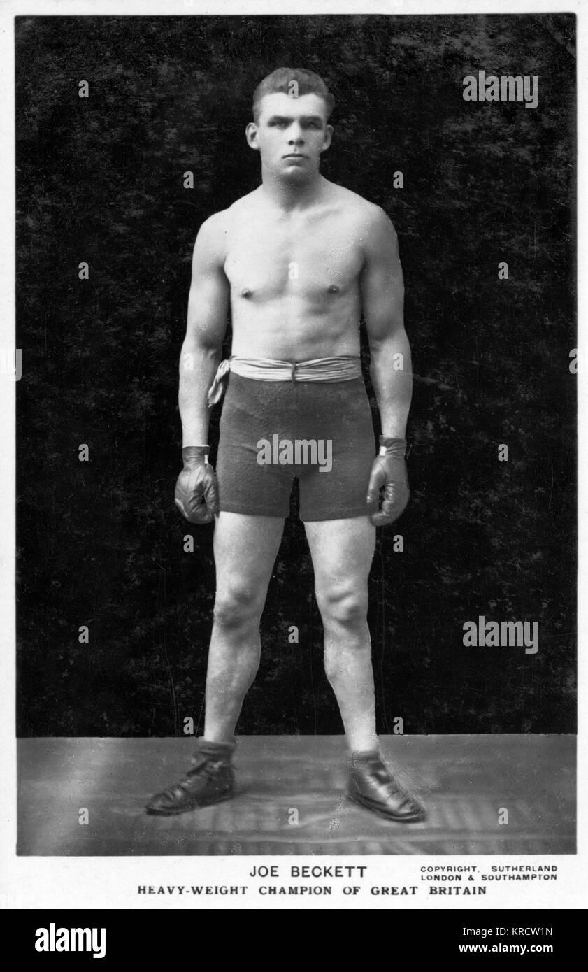 Joe Beckett (1892-1965), Heavyweight Boxing Champion of Great Britain. Date: 1920s - Stock Image