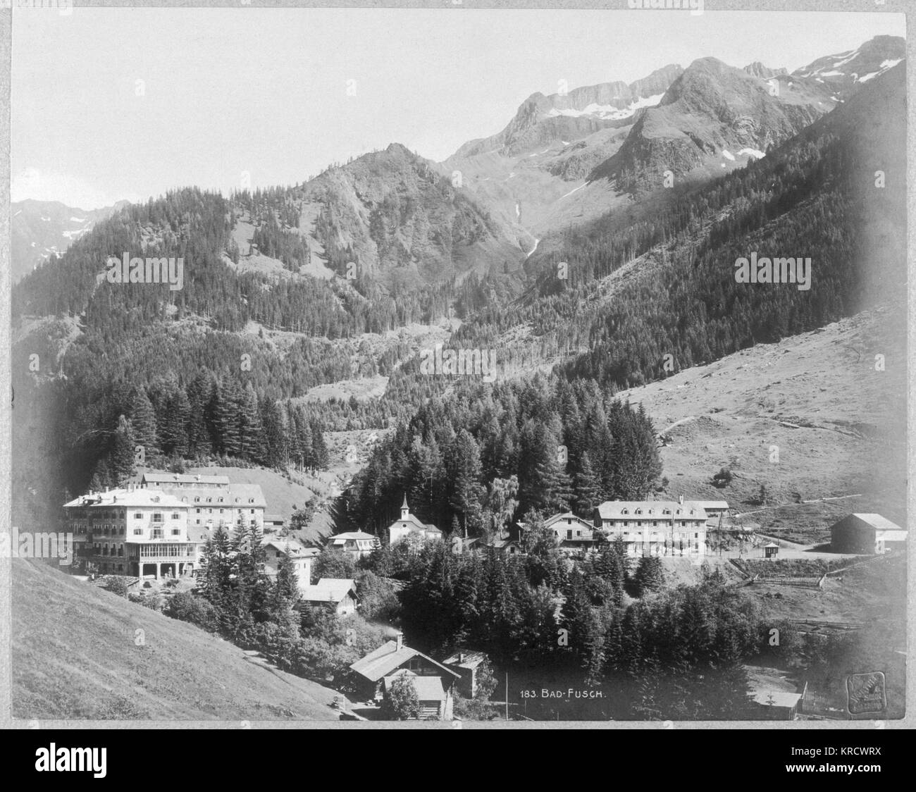 Bad Fusch: Austrian spa town Date: Early Twentieth century - Stock Image