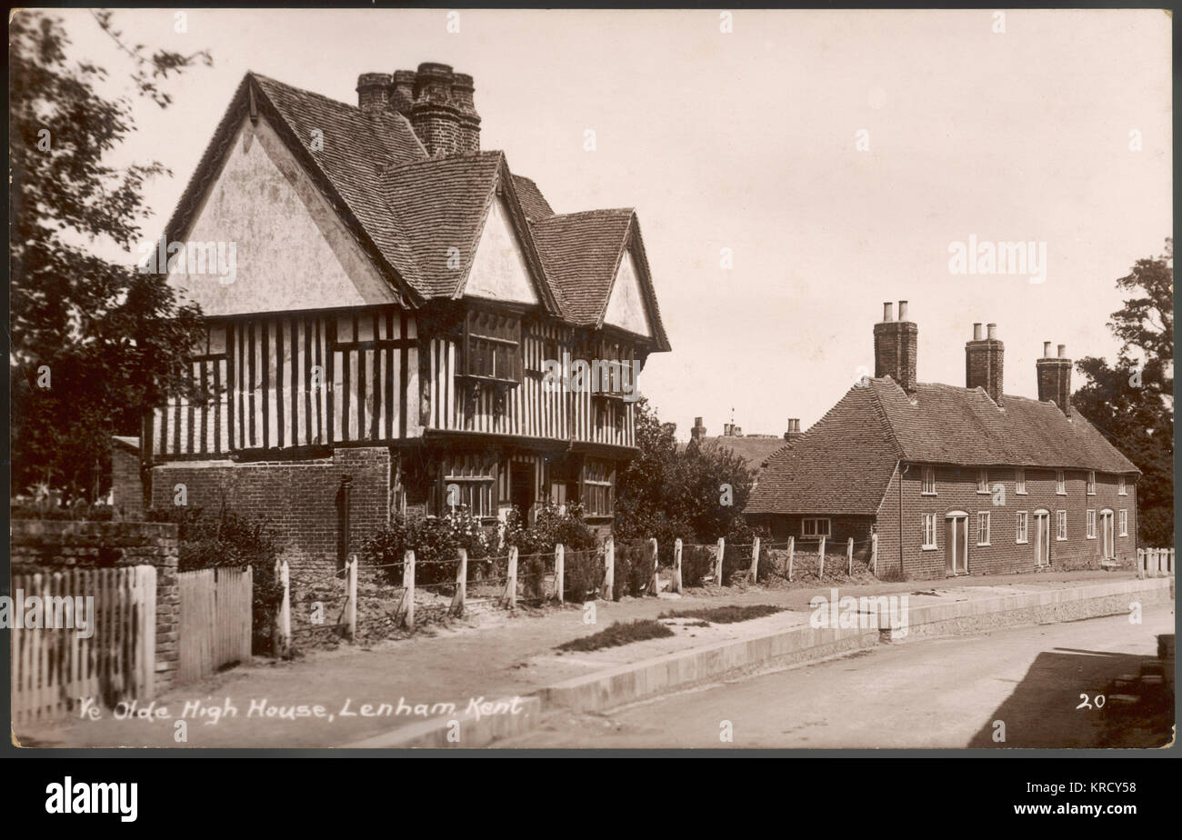 LENHAM, KENT, ENGLAND. 'High House' Lenham, Kent. Stated to have been built in  1621 by Anthony Honywood. - Stock Image