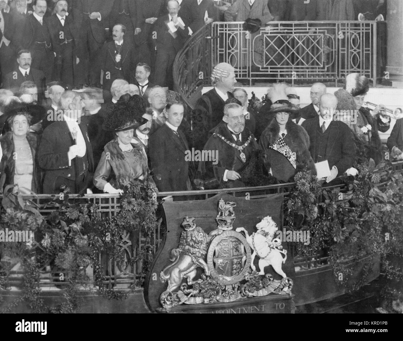 The Lord Mayor of London, Sir Thomas Boor Crosby (1830-1916), opening Whiteleys new premises in Bayswater, West - Stock Image