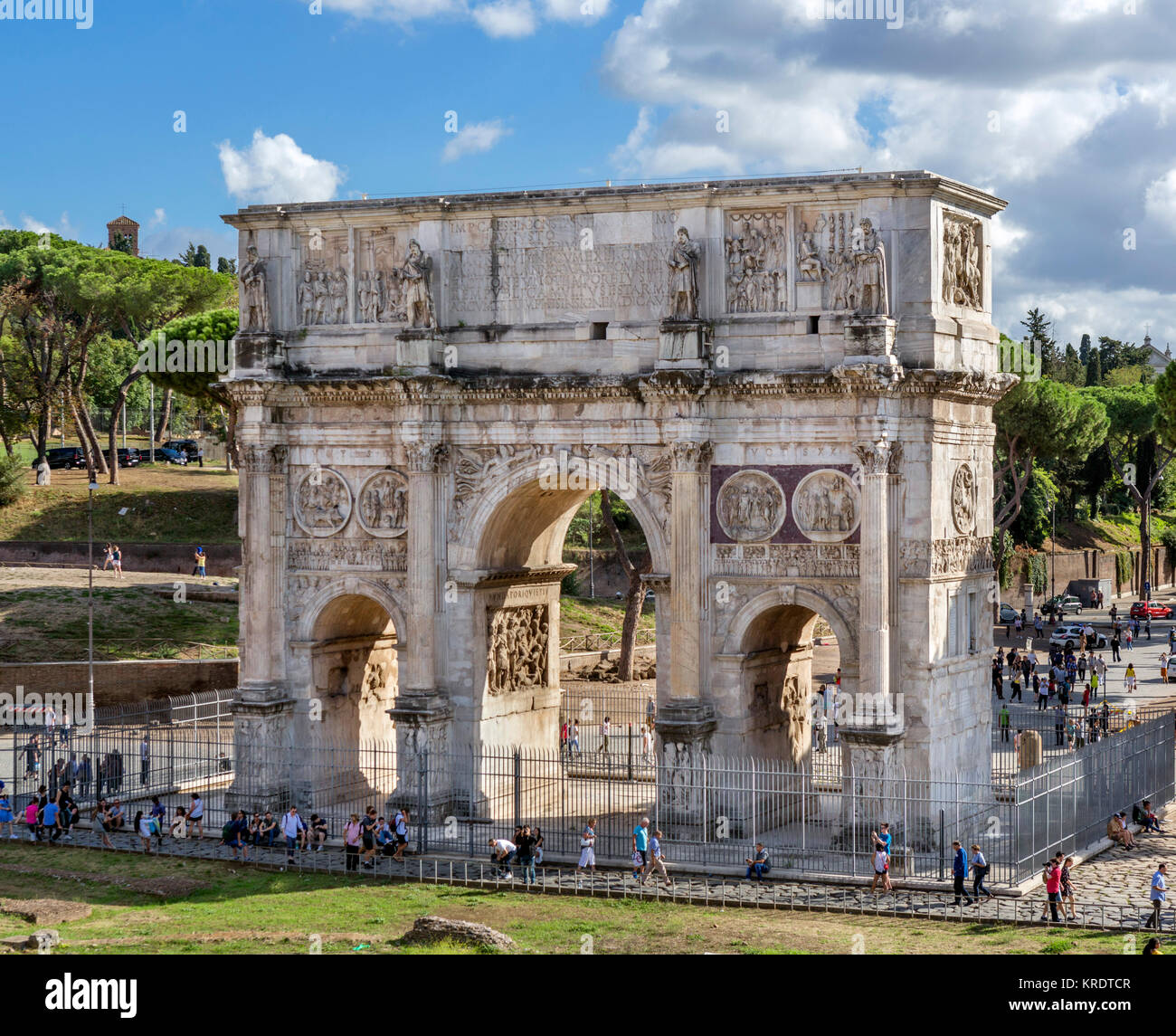 The Arch of Constantine, Rome, Italy - Stock Image