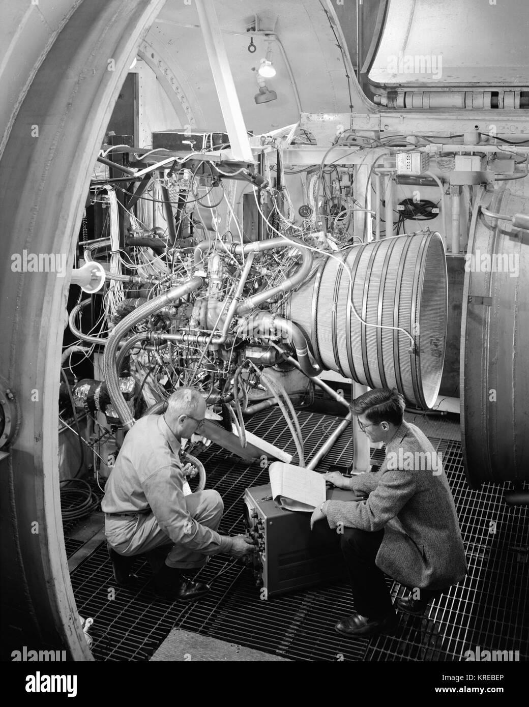Centaur Rocket Installation in PSL -1 - GPN-2000-000698 - Stock Image