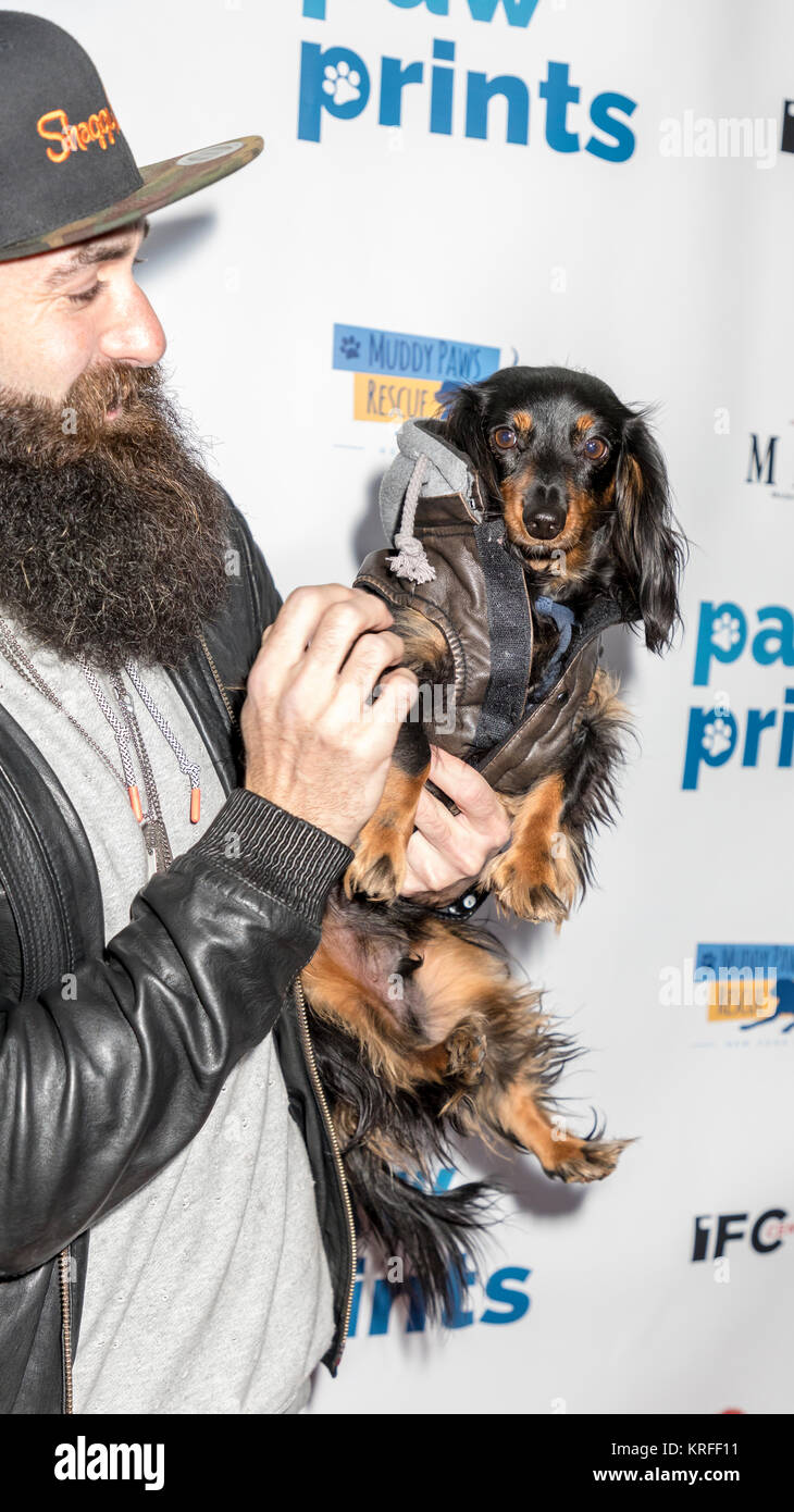 """New York, NY, USA - December 19: Jerry """"Brows"""" Powers at the Paw Prints 1st Annual Paw-liday party screening of Stock Photo"""