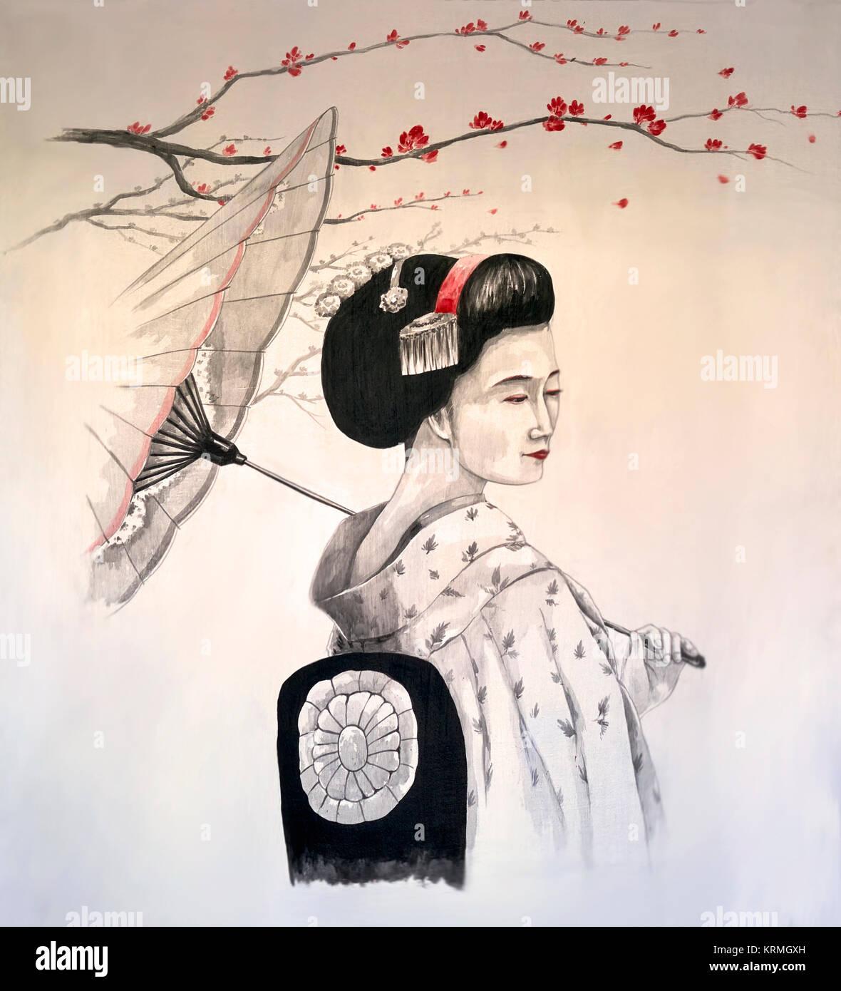 japanese-geisha-art-wall-art-of-a-geisha