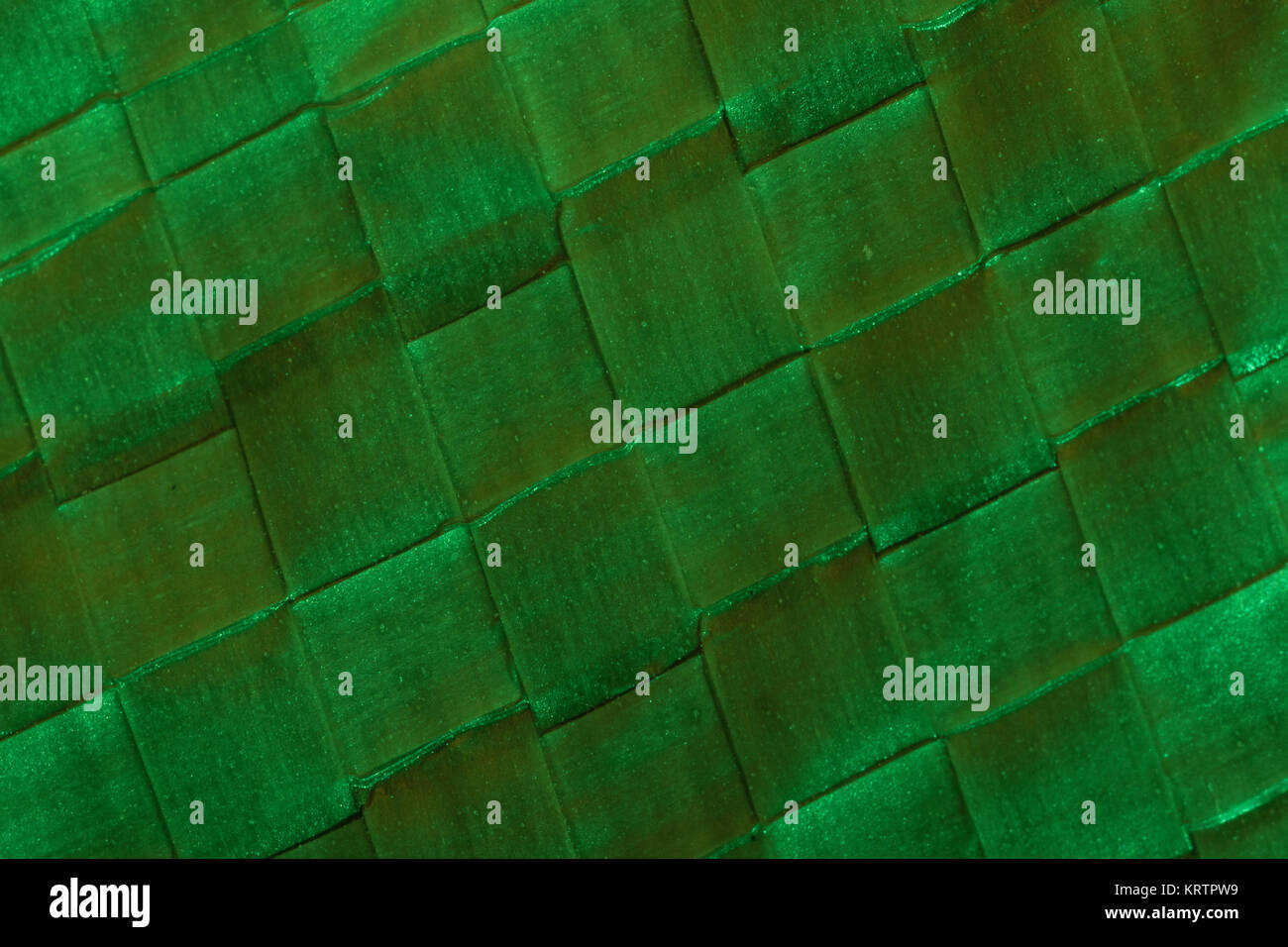 Macro-photo of woven polypropylene ground-sheet. - Stock Image