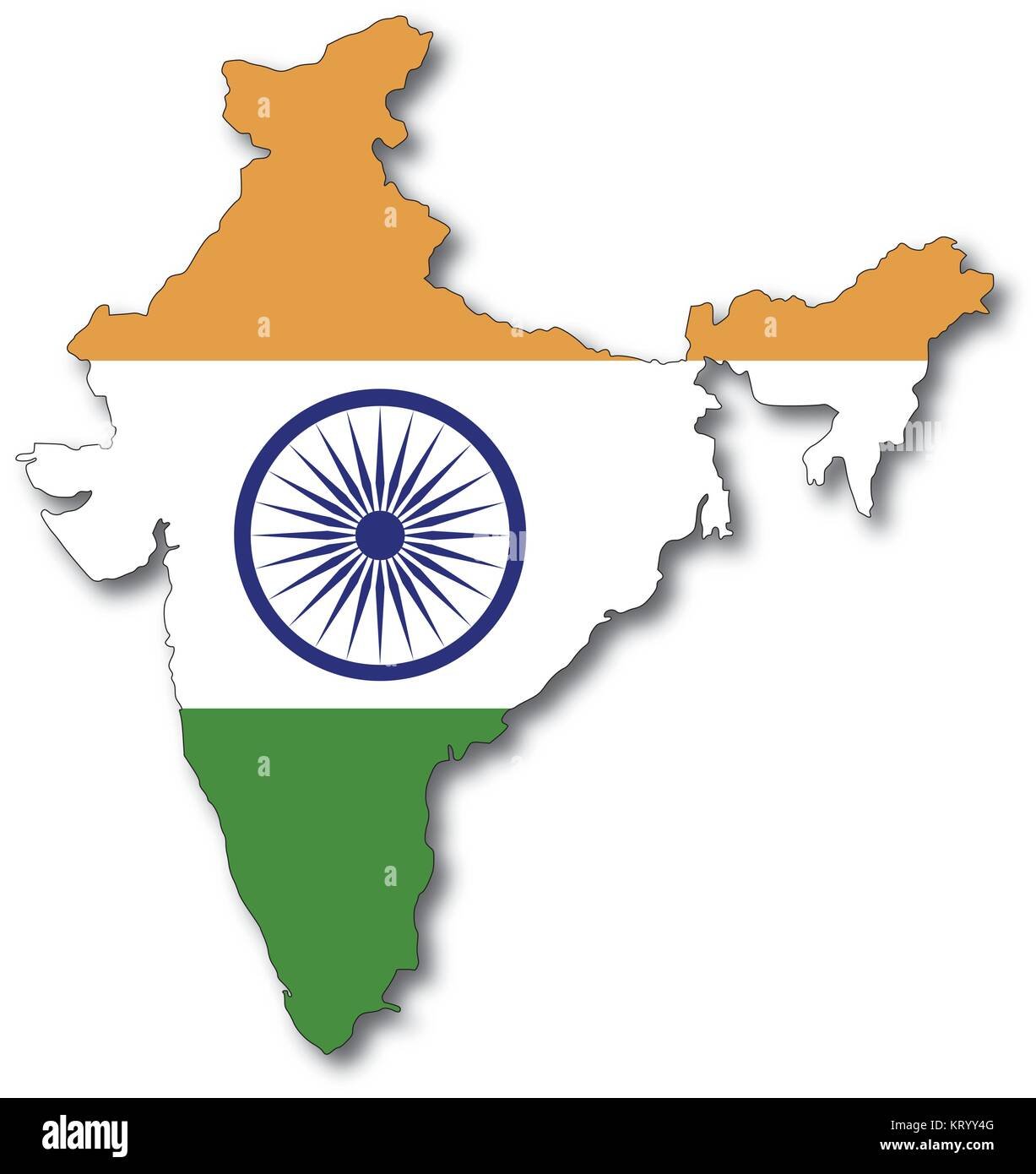 India Map Outline Stock Photos & India Map Outline Stock