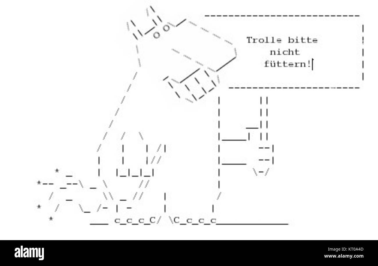 Ascii Troll Stock Photo 169653021 Alamy
