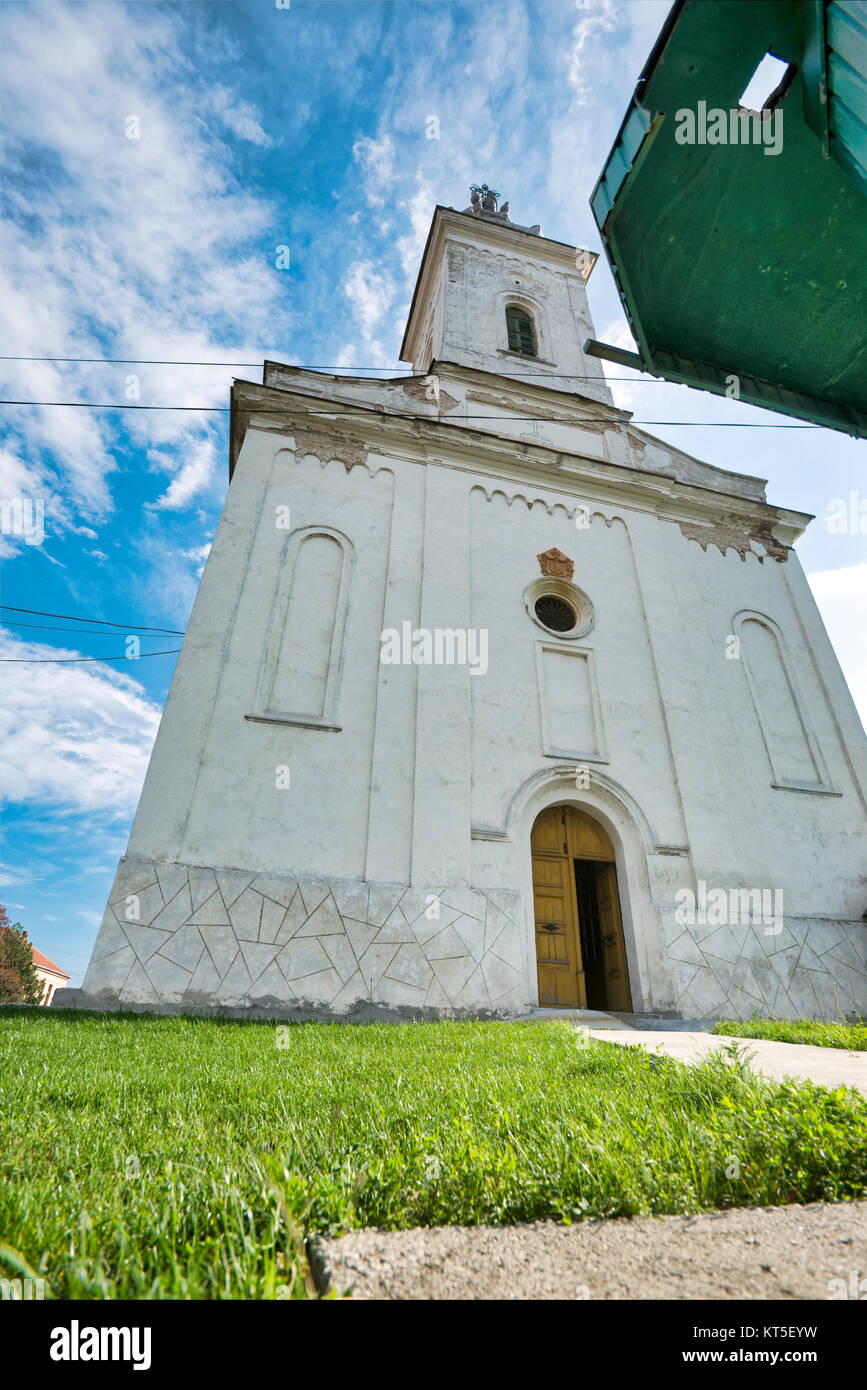 Aging rural communities such as Boljevac in Serbia - Orthodox church of St. Ilija - Stock Image