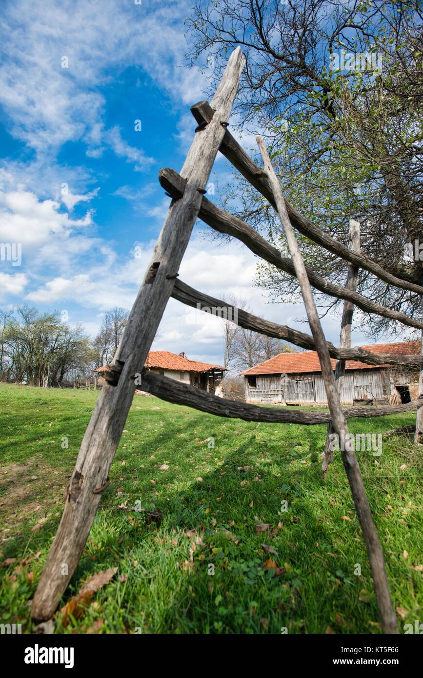 Aging rural communities such as Boljevac in Serbia - Stock Image