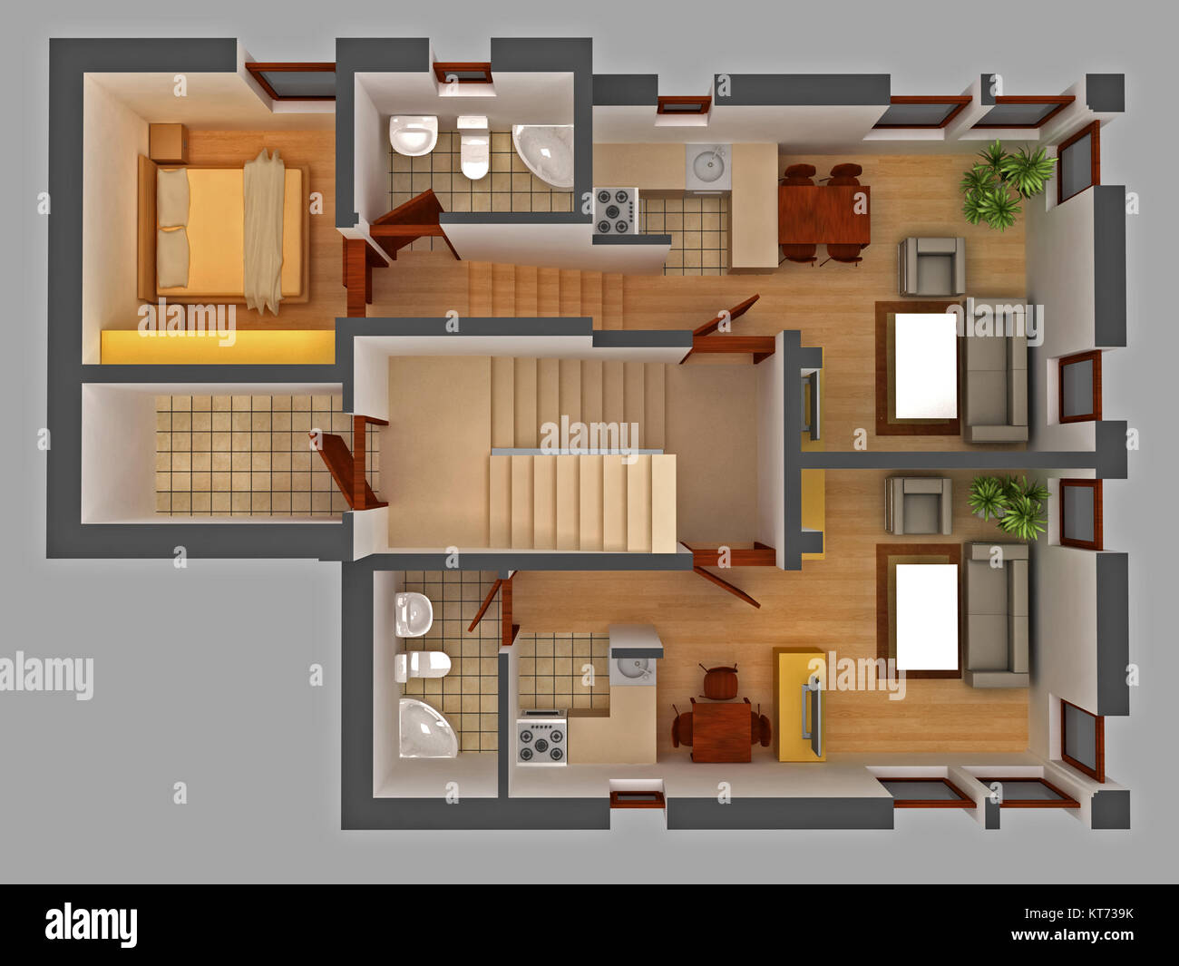 Apartment floor plan - Stock Image