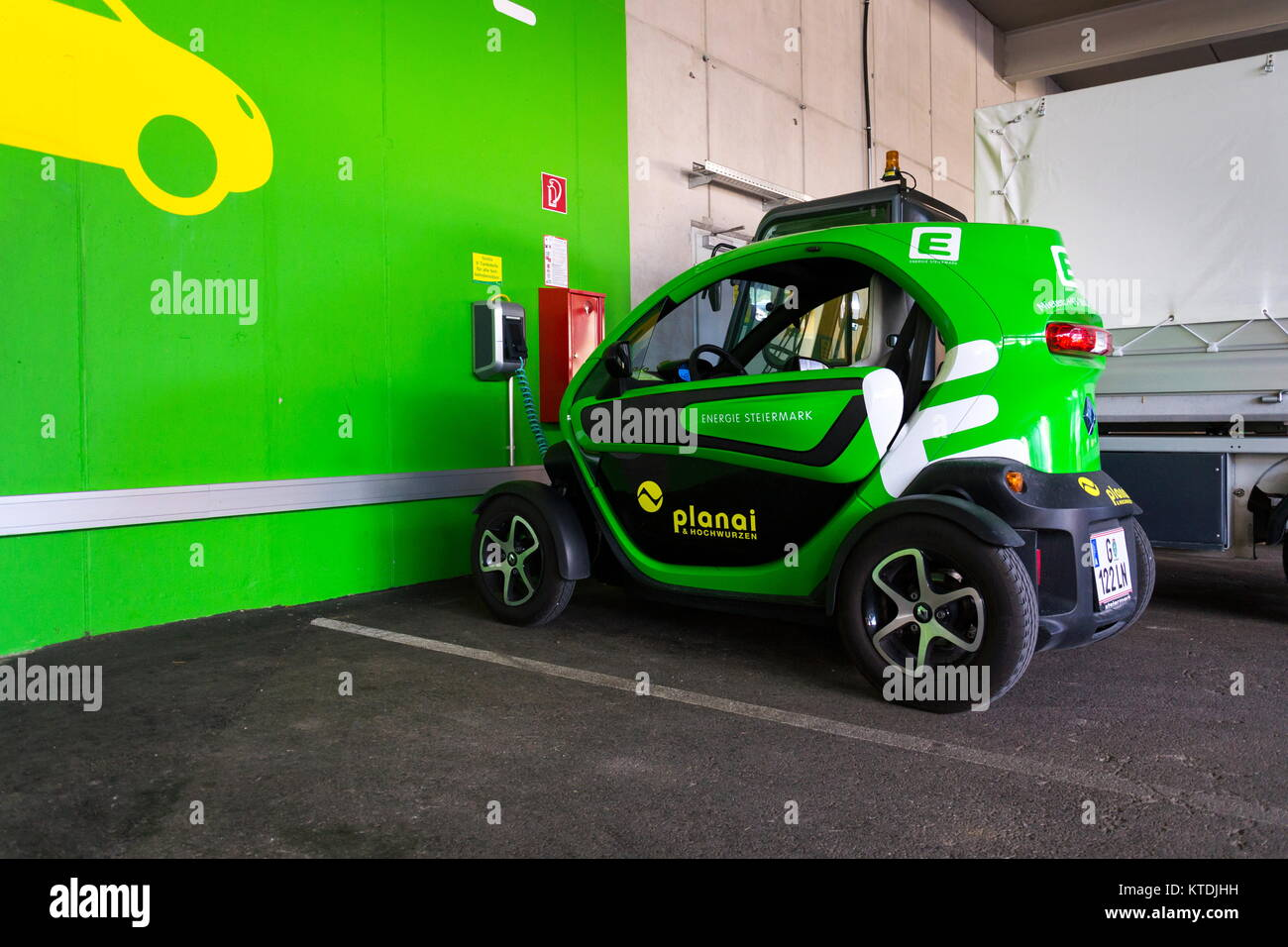 Schladming Austria August 15 Renault Twizy Electric City Car