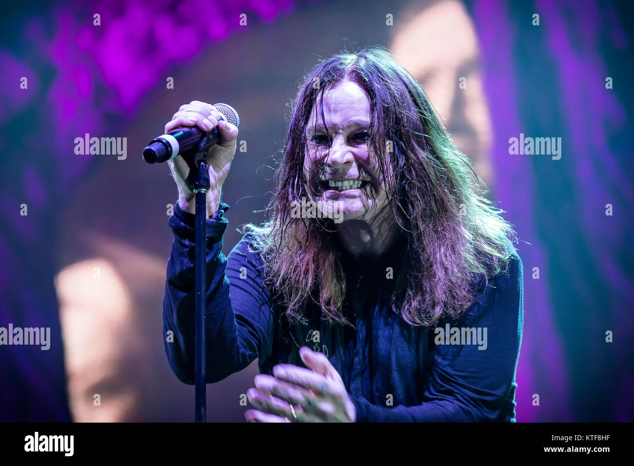 The English rock band Black Sabbath performs a live concert at Telenor Arena in Oslo. Here singer and TV-celebrity Stock Photo