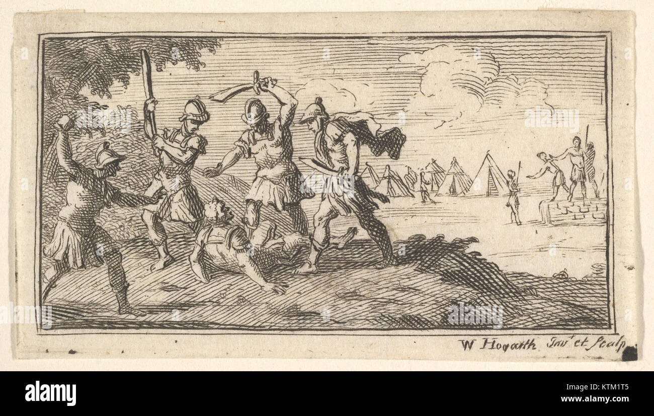 Beheading (John Beaver, Roman Military Punishments, 1725) MET DP824591 Stock Photo