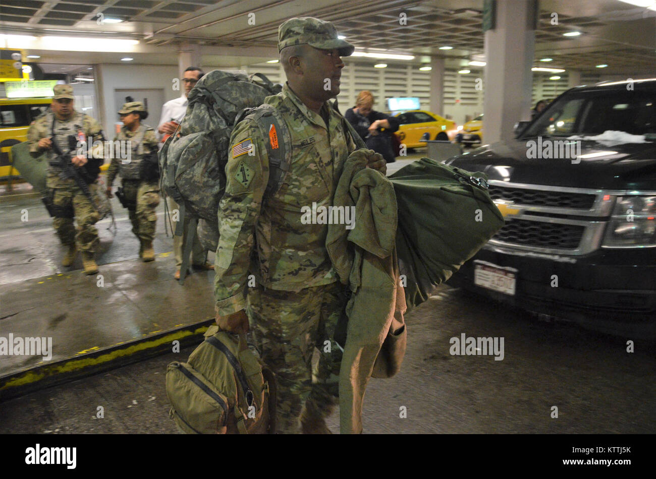 JFK Airport, Queens, NY – On December 15th, 2017, over 30 Soldiers ...