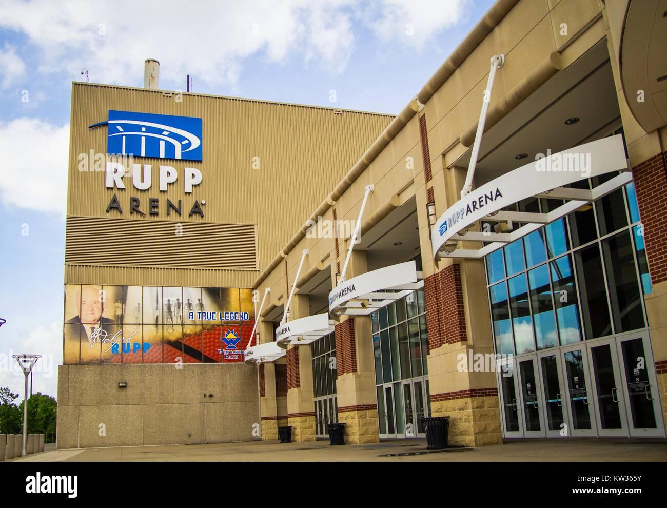 Lexington, Kentucky. USA. June 1, 2015. Rupp Arena in Lexington, Kentucky is home court of the beloved University - Stock Image