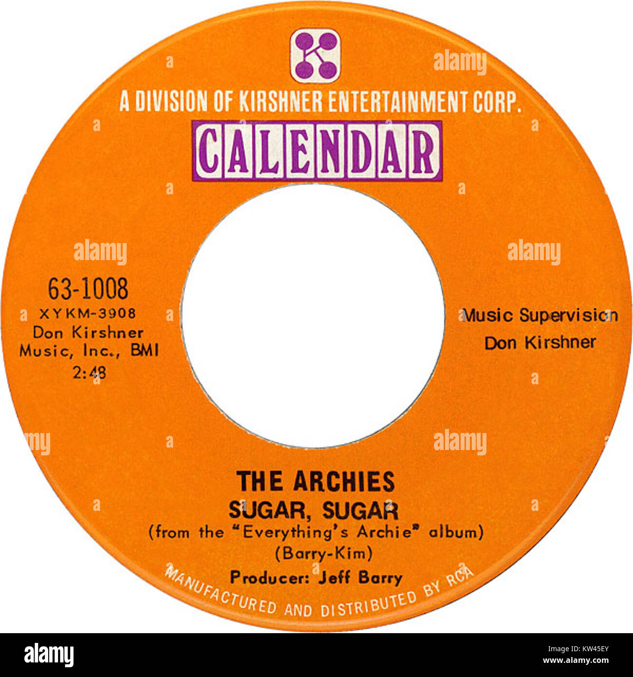 The archies sugar sugar 1969 US vinyl Stock Photo