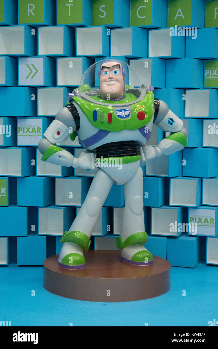 toy story character buzz statue - Stock Image