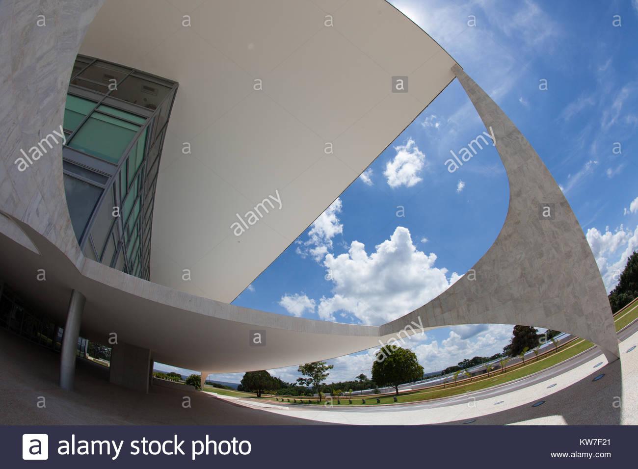Presidential Building in Brasilia - Stock Image