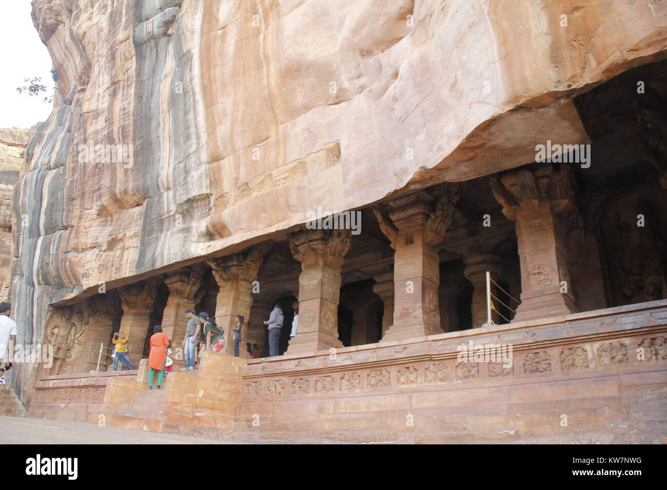 Cave temples at Badami, Karnataka, India - Stock Image