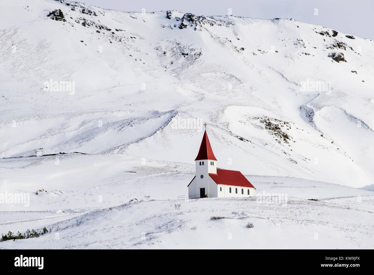 Church at Vic in Iceland - Stock Image