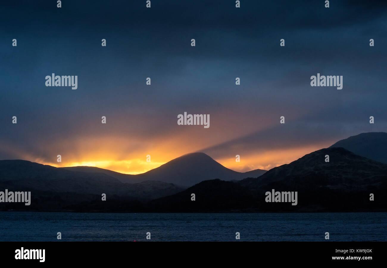 Sunset over Mull - Stock Image