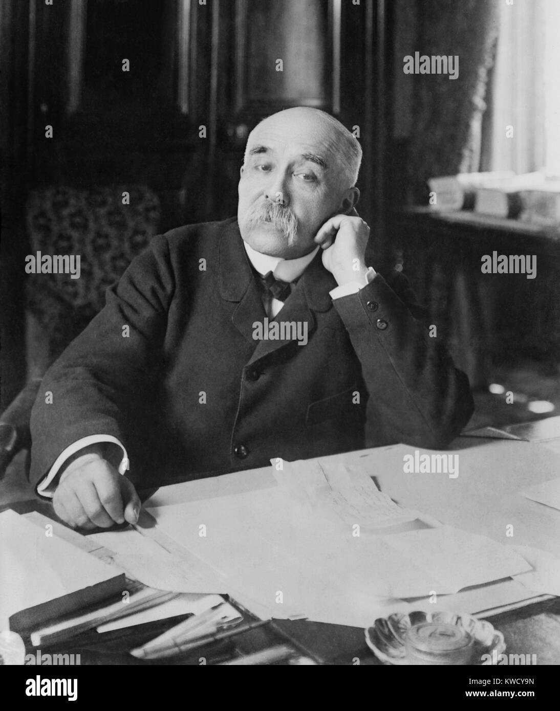Georges Clemenceau was Prime Minister of France from Oct. 25. 1906 – July 24, 1909. In a second term, from 1917 - Stock Image