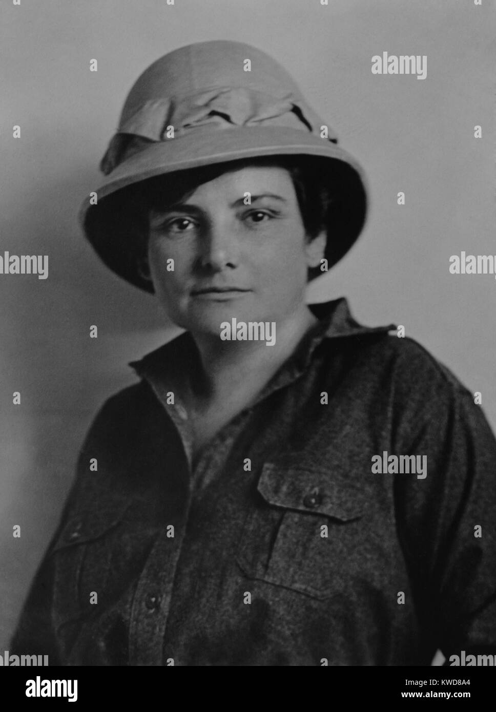 Harriet Chalmers Adams, American explorer, writer, and photographer. Ca. 1908-19. As a correspondent for Harper's Stock Photo