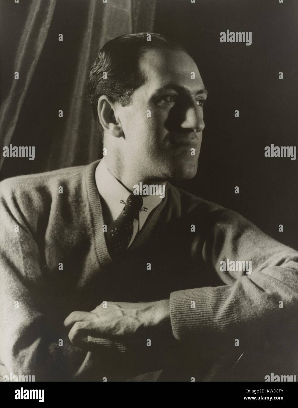 George Gershwin, American composer, portrait by Carl Van Vechten, March 28, 1937. His music was featured in several - Stock Image