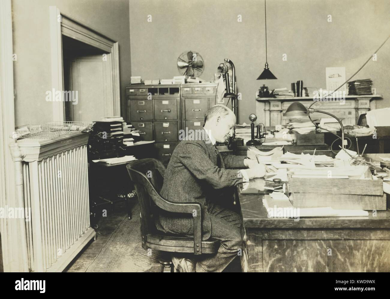 Dr. A. B. Adams, Head, Div. of Technology of the Internal Revenue, at start of Prohibition in 1920. In Nov. 1920 - Stock Image