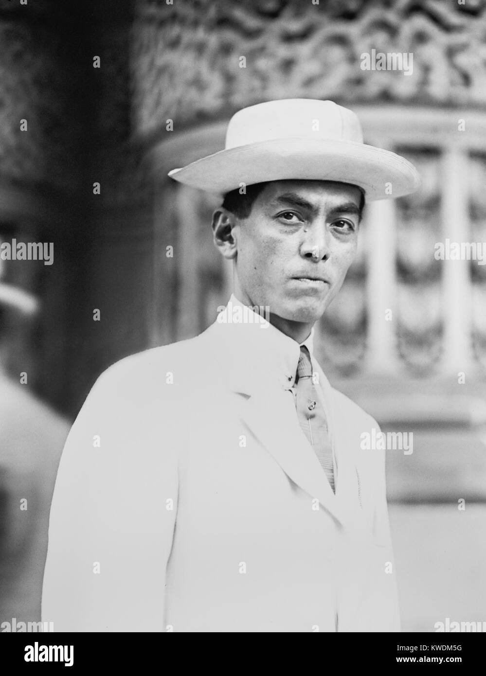 Manuel Quezon in 1912 when he was Resident Commissioner of the Philippines. He was in the US attending the Democratic - Stock Image