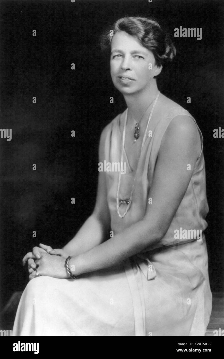 Anna Eleanor Roosevelt, American politician and wife of President Franklin D. Roosevelt - Stock Image